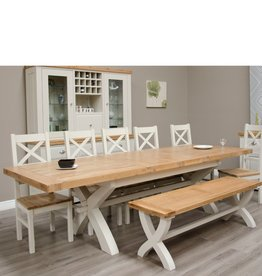Painted Deluxe X Leg Extending Table