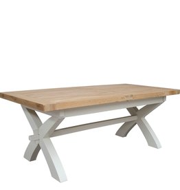 HomestyleGB Painted Deluxe X Leg Extending Table