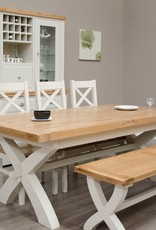 HomestyleGB Painted Deluxe X Leg Extending Table