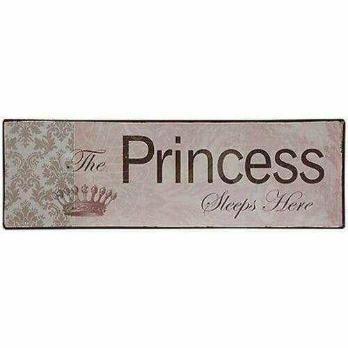 The Princess Sleeps Here - Tin Plaque