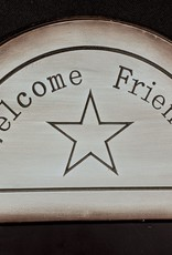 Welcome Friends Wall Hanging Blackboard