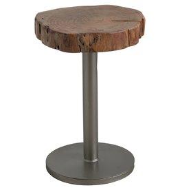 Live Edge Tree Sliced Side Table