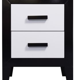 Sweet Dreams Retro Bedside Cabinet - Black and White
