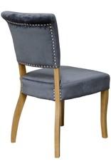 HomestyleGB Capri Grey Velvet Dining Chair - Pair