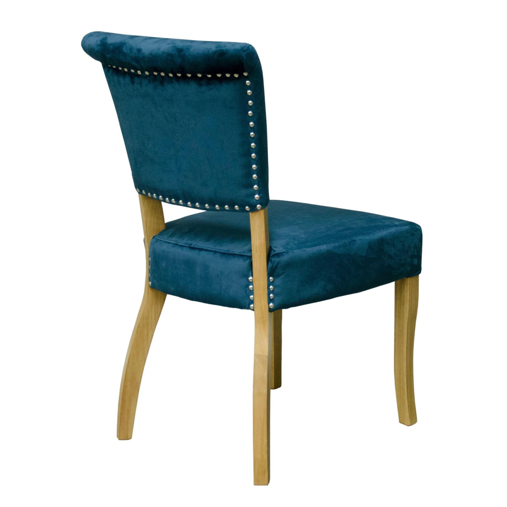Capri Blue Velvet Dining Chair - Pair