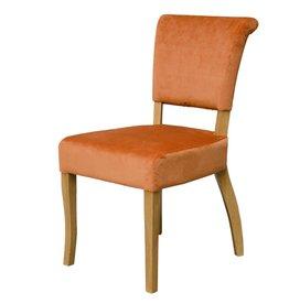 Capri Orange Velvet Dining Chair - Pair