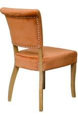 HomestyleGB Capri Orange Velvet Dining Chair - Pair