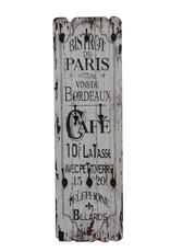 Besp-Oak Bistrot de Paris Tall Wooden Wall Plaque