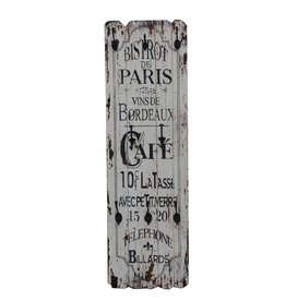 Besp-Oak Bistrot de Paris Tall Wooden Wall Plaque