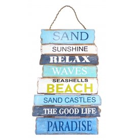 Sand Sunshine Wooden Relax Sign
