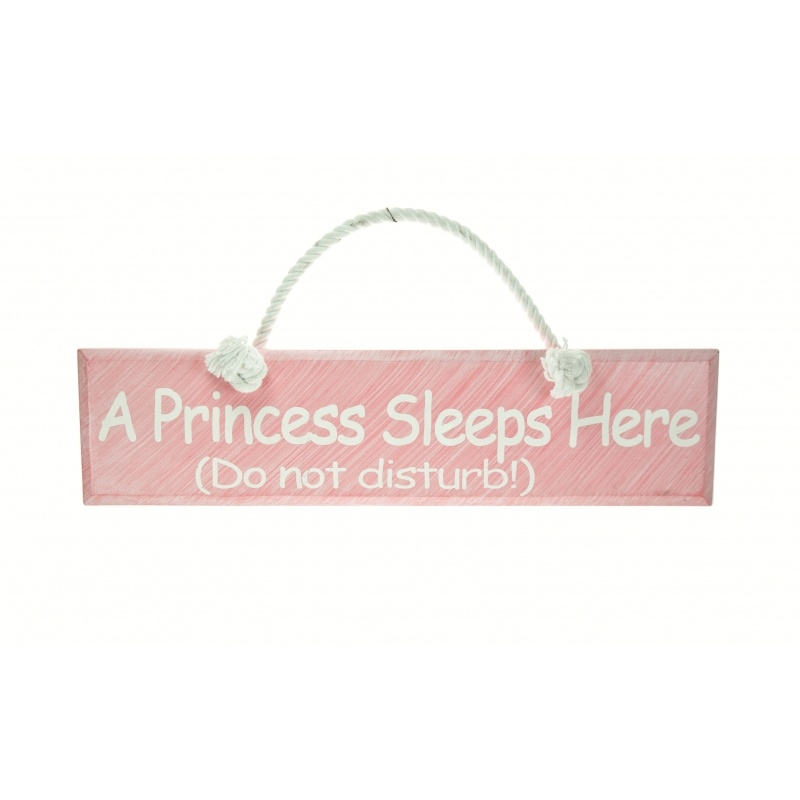 A Princess Sleeps Here - Wooden Sign