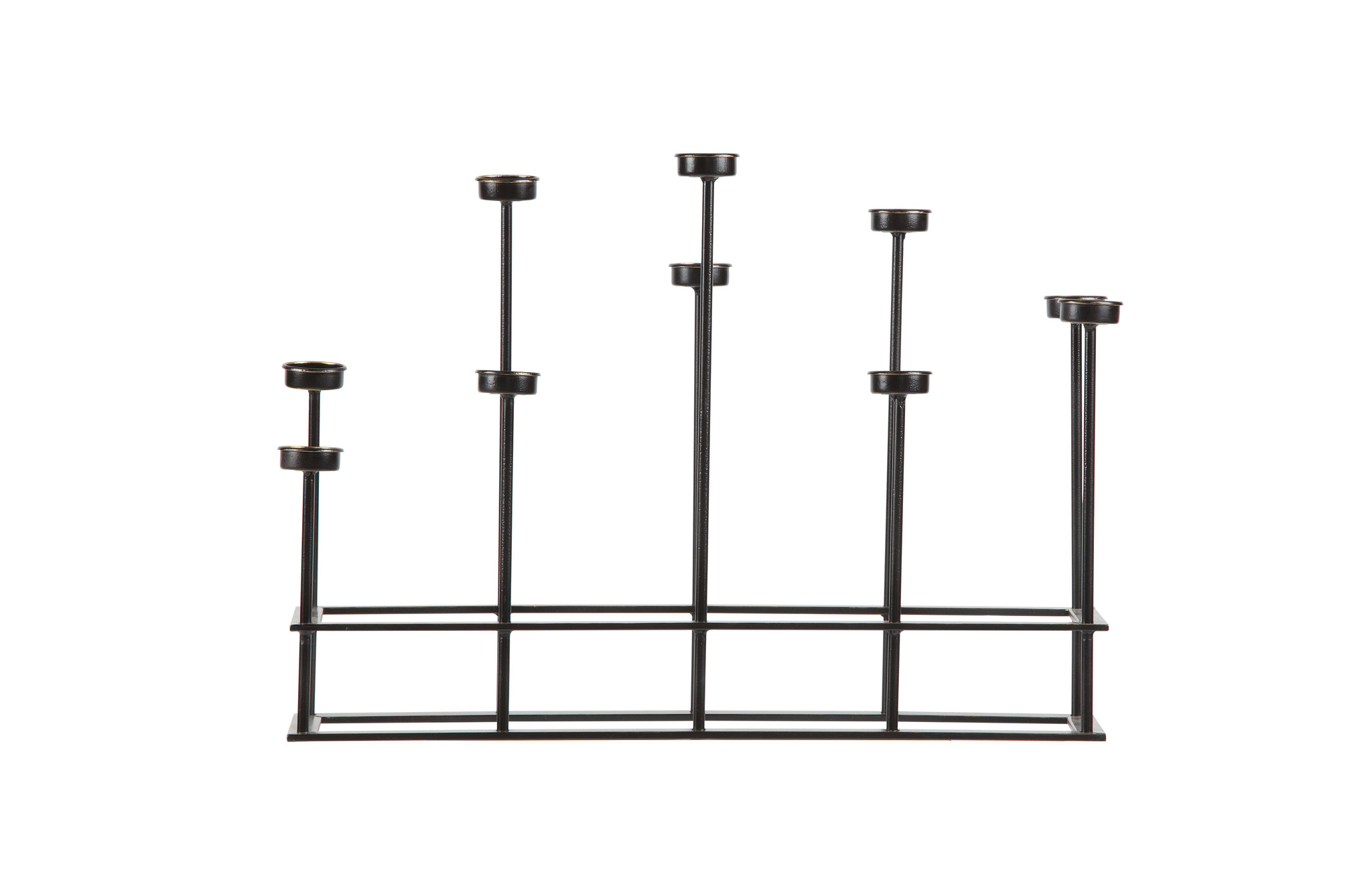 BePureHome Surround Candle Holder Metal Black