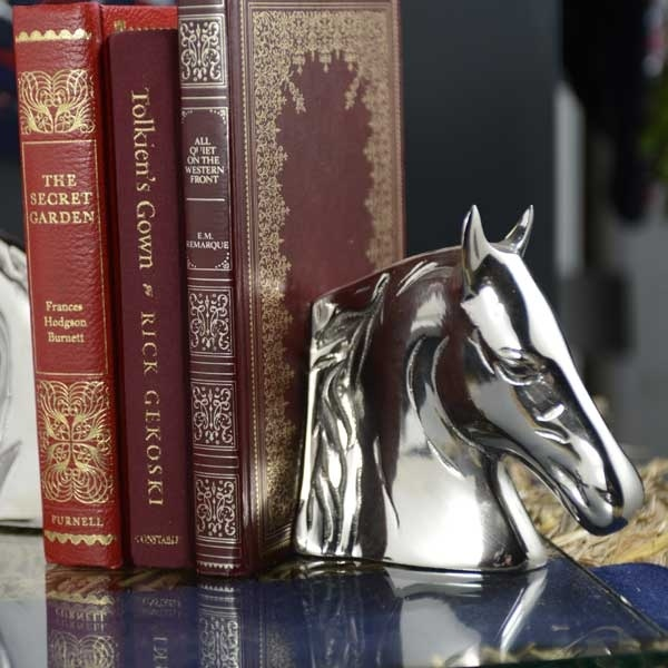 Culinary Concepts Pair Of Horse Head Bookends