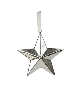 Culinary Concepts Medium Star Hanging Decoration Hammered Finish