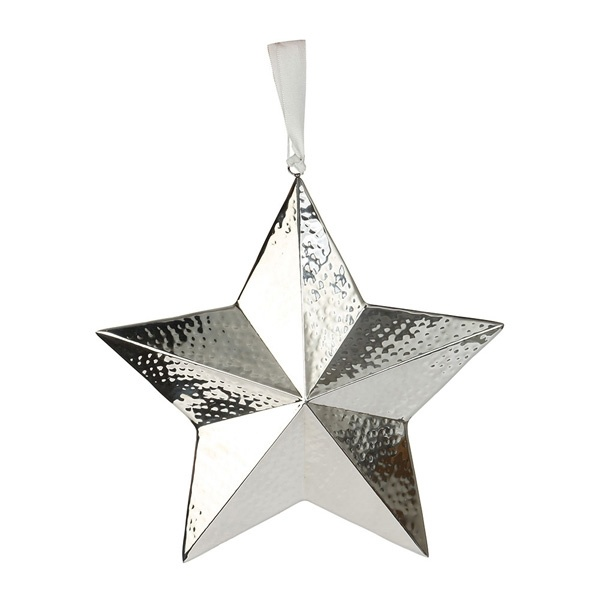 Culinary Concepts XXL Star Hanging Decoration Hammered Finish