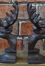 Iron Deer Head Bookends