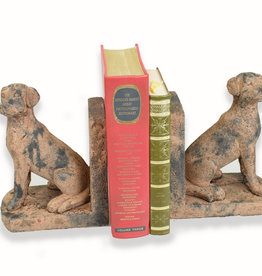 Reproduction Antique Stone Dog Bookends
