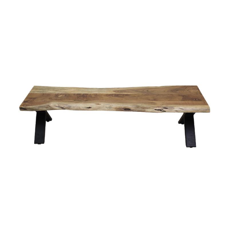 Live Edge Long Acacia Wood Bench
