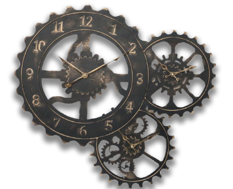 Industrial Gear Wheel Clock