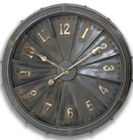 Industrial Iron Clock - 63 cm