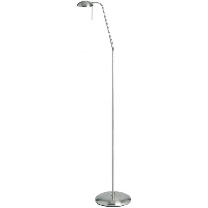 Endon Hackney Floor Lamp Satin Chrome