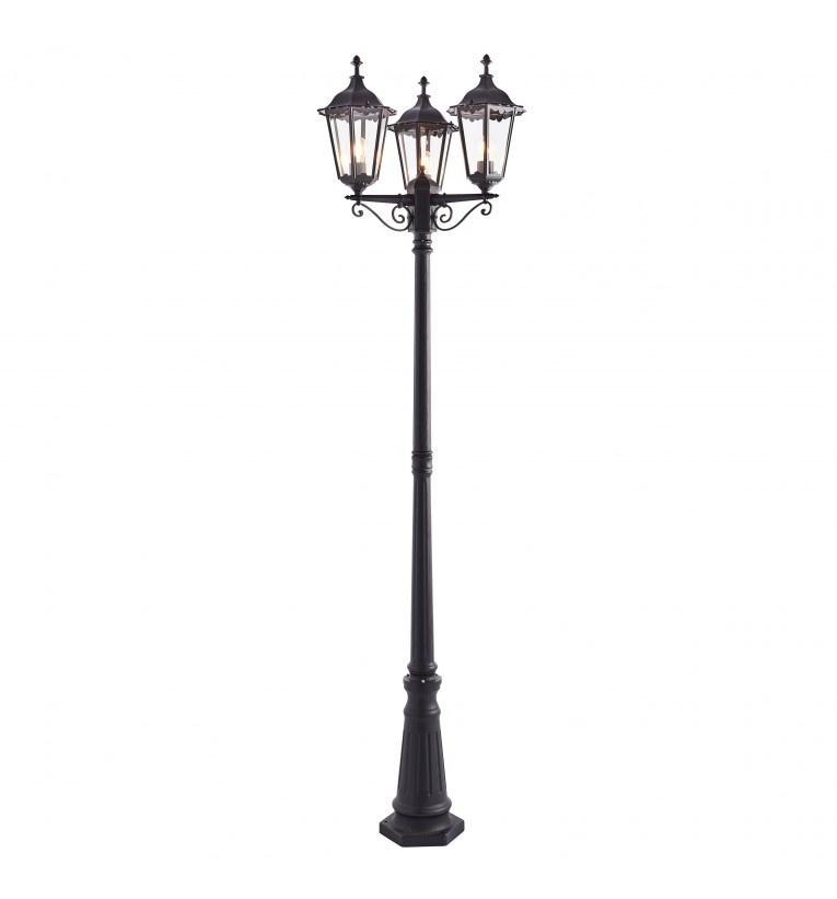 Tradicional Three Light Lamp Post Floor Lamp