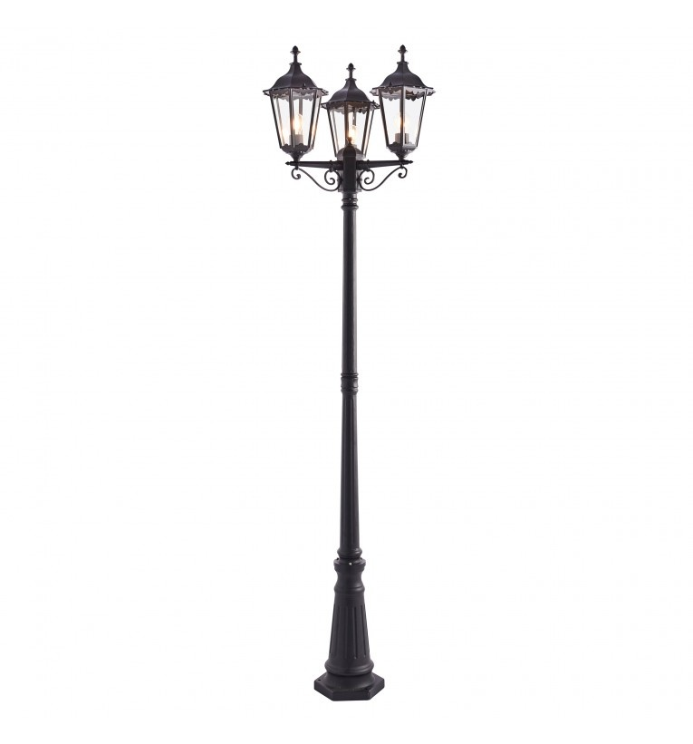 Traditional Three Light Lamp Post Floor Lamp