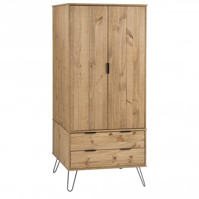 Augusta Pine Blend 2 Door 2 Drawer Wardrobe