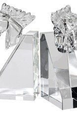 Crystal Horse Head Bookends