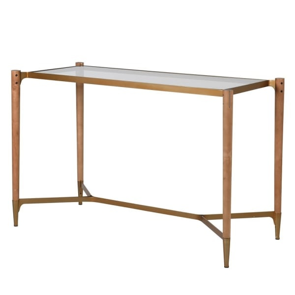 Golden Framed Console Table