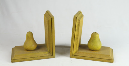Wooden Pear Bookends