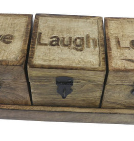 Set of Love,Live,Laugh Storage Boxes