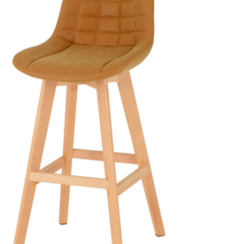 Seconique Brisbane Bar Chair Mustard - Pair