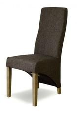 HomestyleGB Tweed Wave Brown Dining Chair