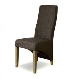 Tweed Wave Brown Dining Chair