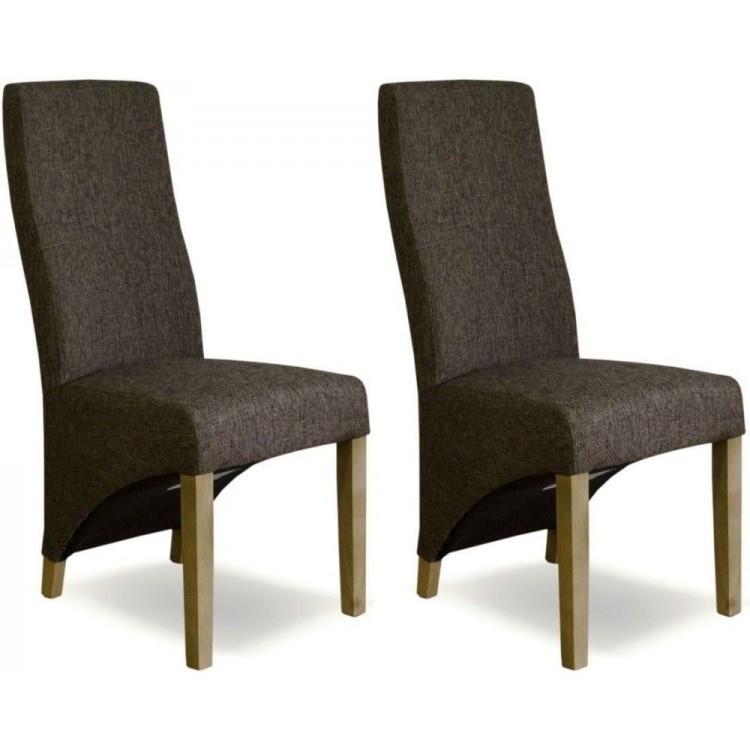 Tweed Wave Brown Dining Chair
