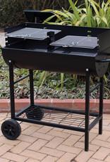 Kingfisher Half Drum Barrel Steel BBQ