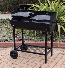 Kingfisher Half Drum Barrel Steel BBQ