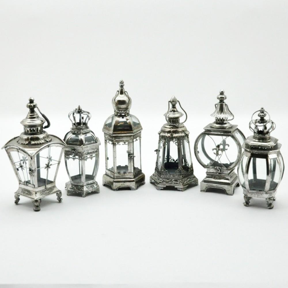 Silver Metal Lantern - 40 cm (Individual)