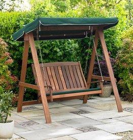 Kingfisher Hardwood Swinging Hammock Bench Seat