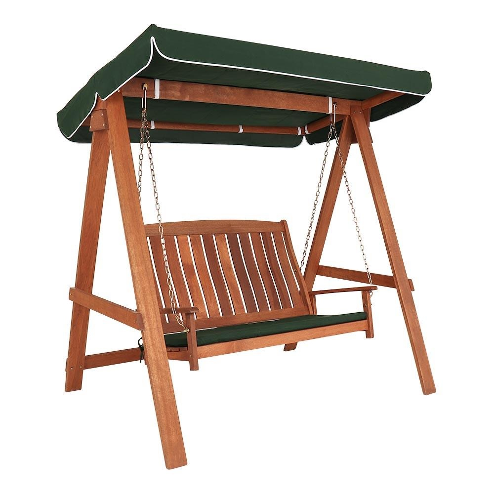 Kingfisher Hardwood Swinging Hammock Bench Seat