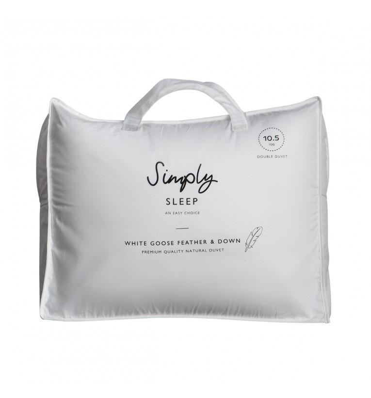 Simply Sleep Simply Sleep White Goose Feather & Down King Duvet