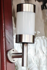 Kingfisher Stainless Steel Solar Powered Wall Light
