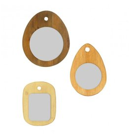 Gallery Chopping Board Wall Mirrors - Set of 3