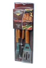 Kingfisher Wooden BBQ Tool Set