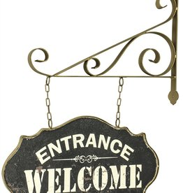 Rustic Metal Hanging Welcome Sign