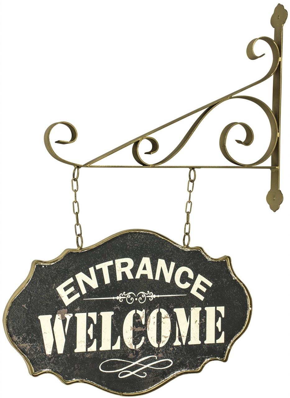Rustic Metal Hanging Welcome Sign