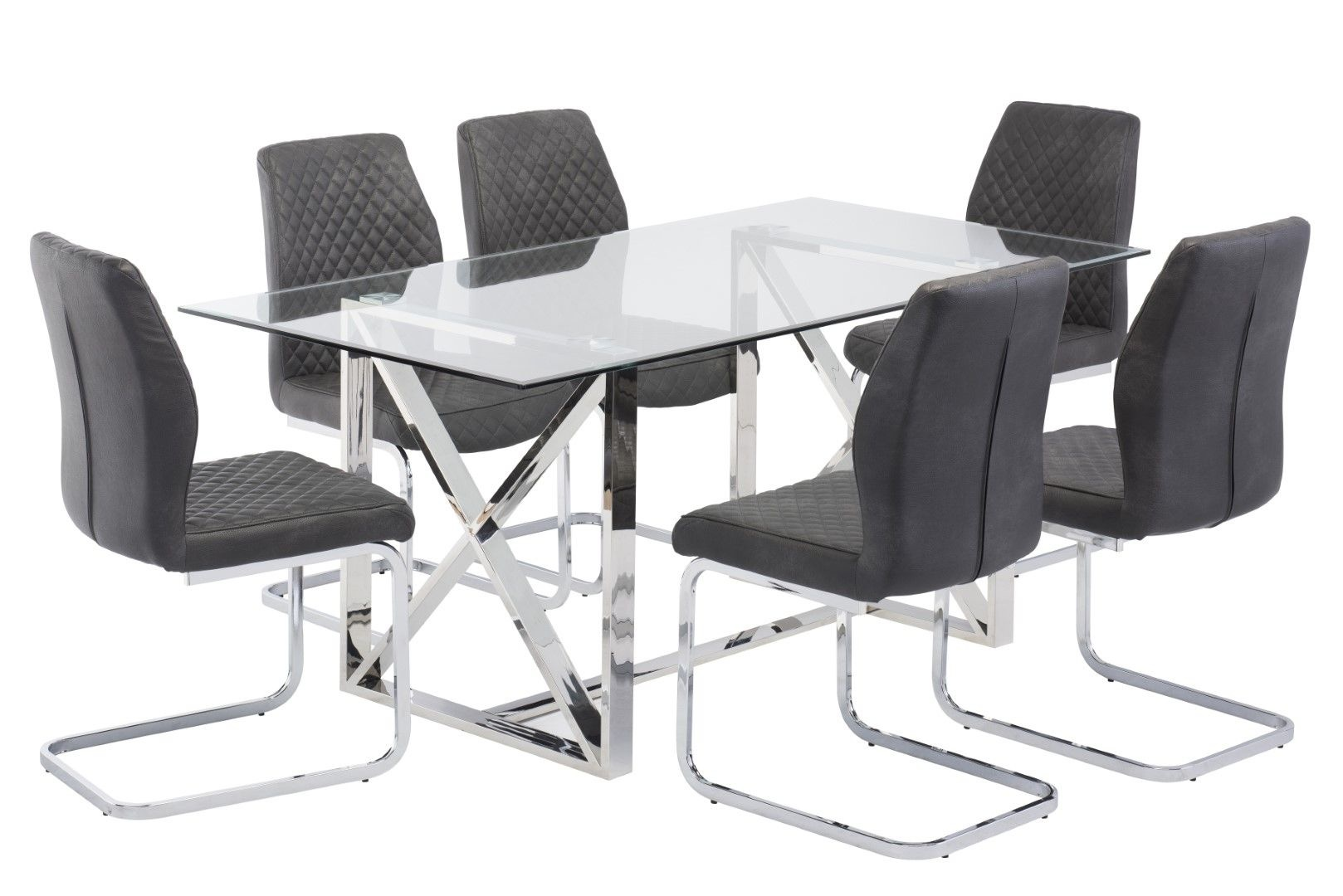 World of Furniture Albany Glass Dining Table