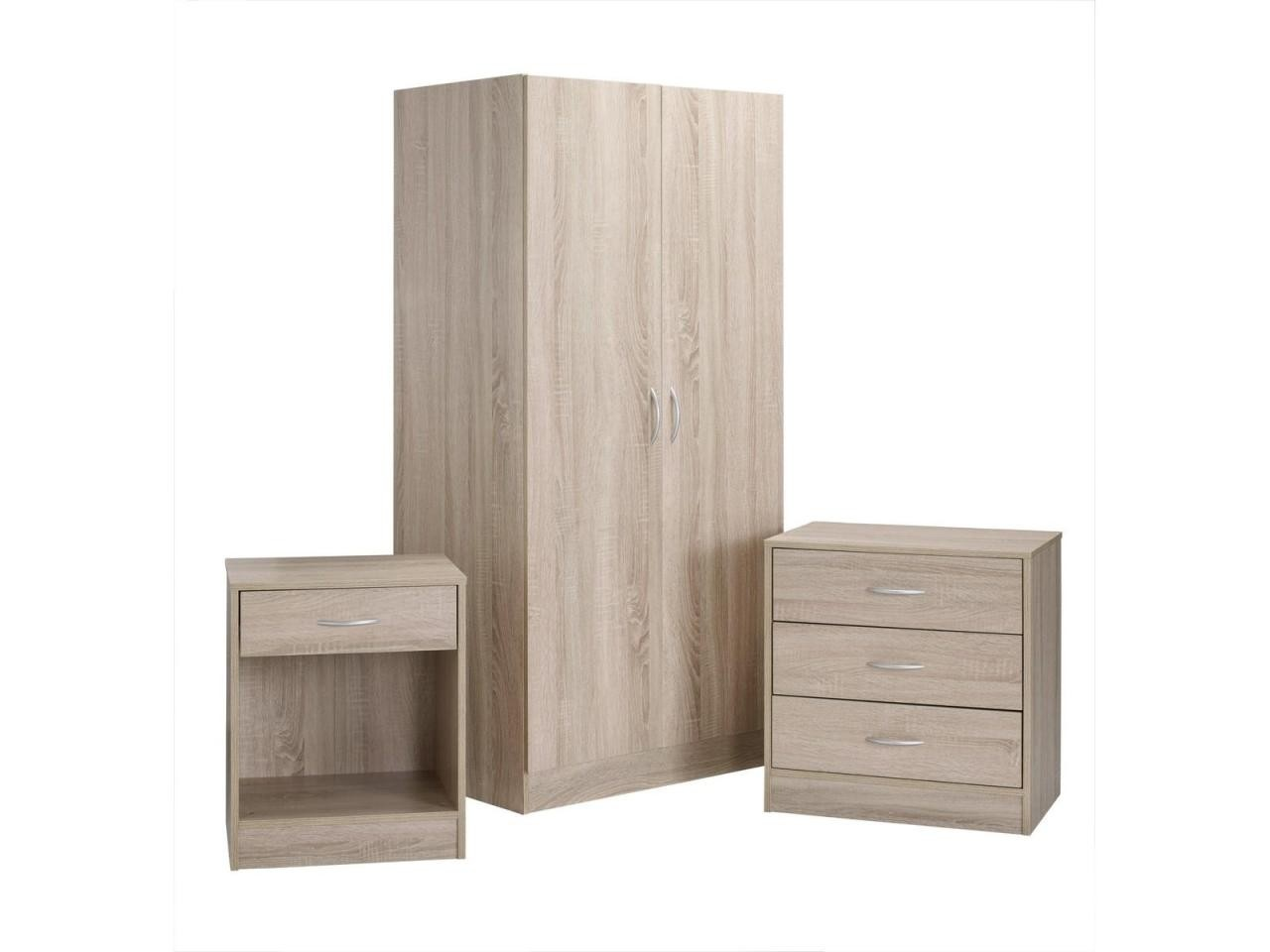 Bedroom Set - Black,White or Oak