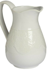 Hill Interiors Ceramic Lace Detail Traditional Jug In White